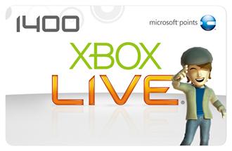 Xbox Live 1400 マイクロソフトポイントカード