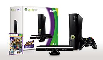 Xbox 360 4GB + Kinect(S4G00017)