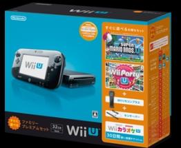 WiiU すぐに遊べるファミリープレミアムセット:クロ(WUPSKAFS)