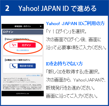 Yahoo! JAPAN ID で進める